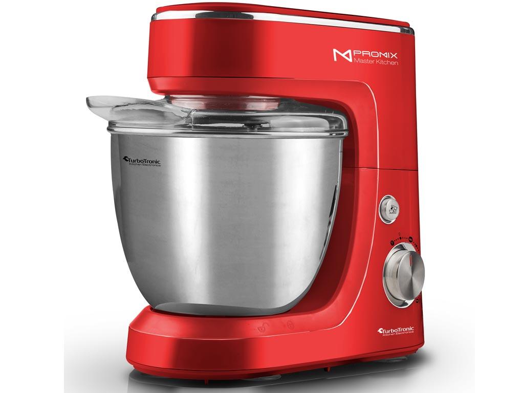 TurboTronic Κουζινομηχανή-Μίξερ Ζαχαροπλαστικής 1400W με κάδο 4.3L, σε 3 χρώματα, TT-017 Κόκκινο - TurboTronic