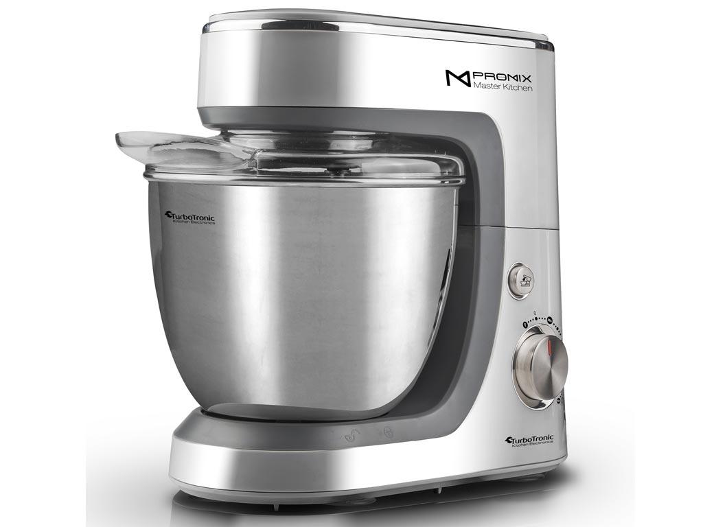 TurboTronic Κουζινομηχανή-Μίξερ Ζαχαροπλαστικής 1400W με κάδο 4.3L, σε 3 χρώματα, TT-017 Ασημί - TurboTronic