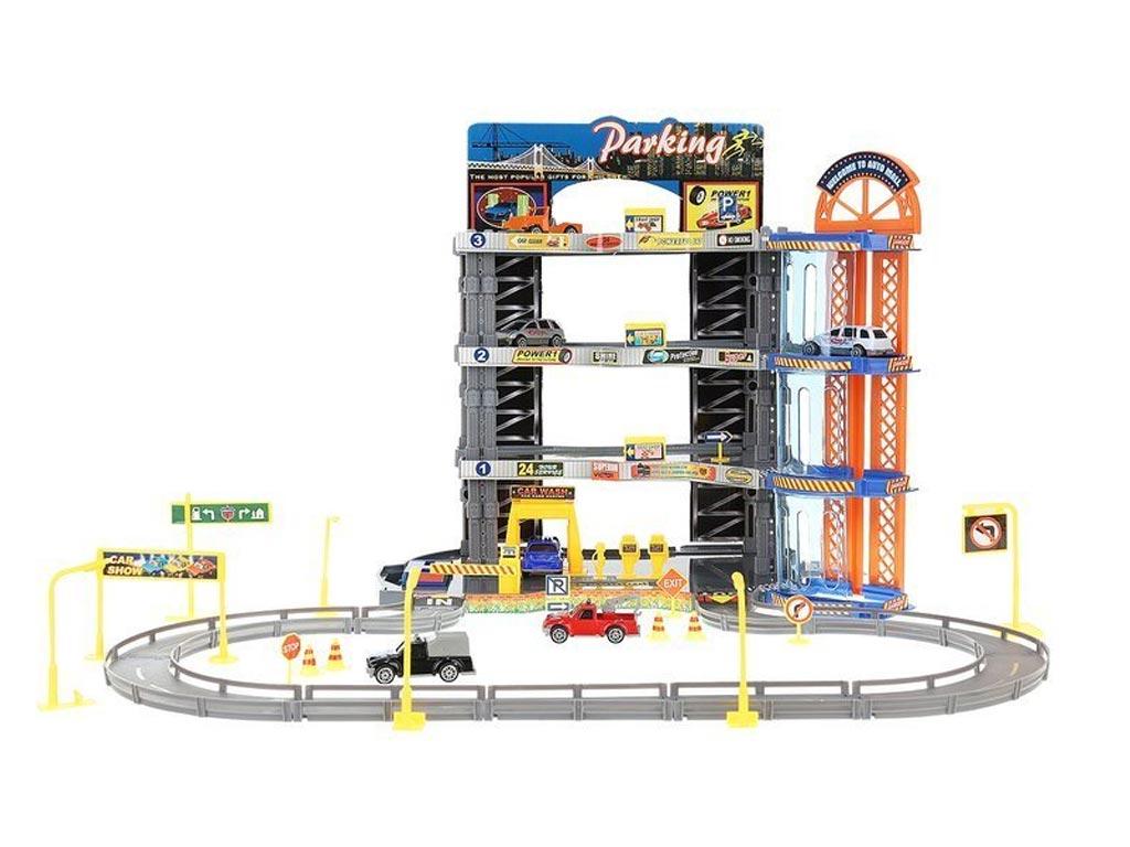 Σετ Παιδικό Γκαράζ Αυτοκινήτων 35 τεμαχίων με 3 επίπεδα, 50.5x56x33 cm