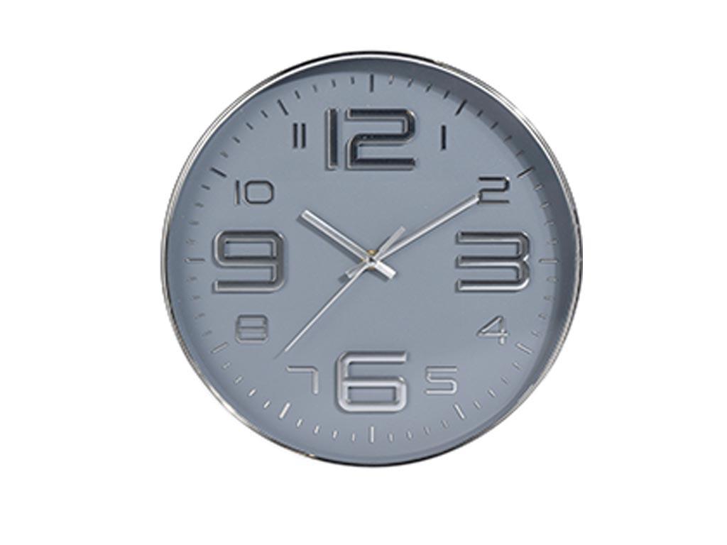 Αναλογικό Διακοσμητικό Ρολόι Τοίχου σε 3 χρώματα με διάμετρο 30.5 cm Γκρι Ανοιχτό - Aria Trade