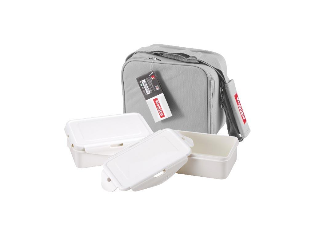 Σετ Φαγητοδοχεία Lunchboxes και Τσάντα Lunchbag 6 τεμαχίων σε γκρι χρώμα, Bergner BG-3652-GY – Bergner