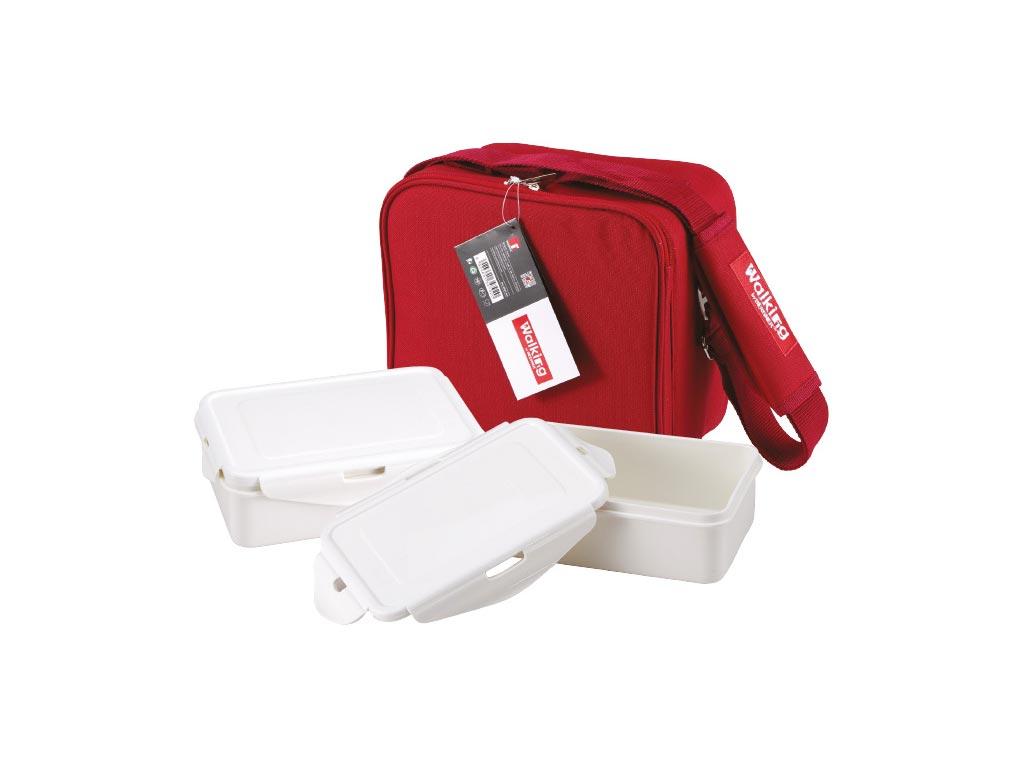 Σετ Φαγητοδοχεία Lunchboxes και Τσάντα Lunchbag 6 τεμαχίων σε κόκκινο χρώμα, Bergner BG-3652-RD – Bergner