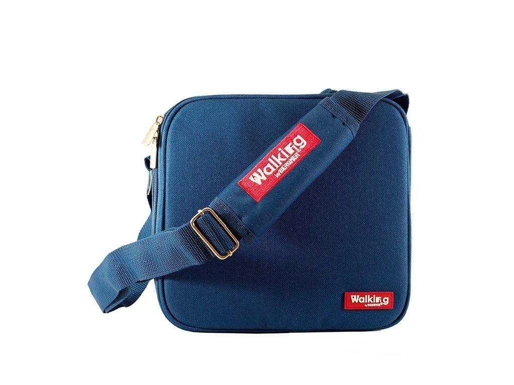 Σετ Φαγητοδοχεία Lunchboxes και Τσάντα Lunchbag 5 τεμαχίων σε μπλε χρώμα, Bergner BG-3652-BL - Bergner