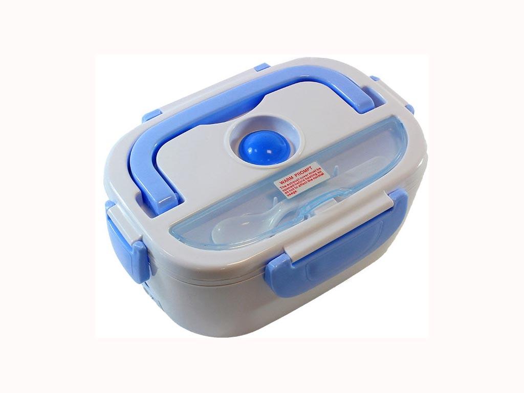 Ηλεκτρικό θερμαινόμενο φαγητοδοχείο, χωρητικότητας 1.1lt, 40 Watt, σε γαλάζιο χρώμα, διαστάσεις 23,5x17x10,5cm - Aria Trade