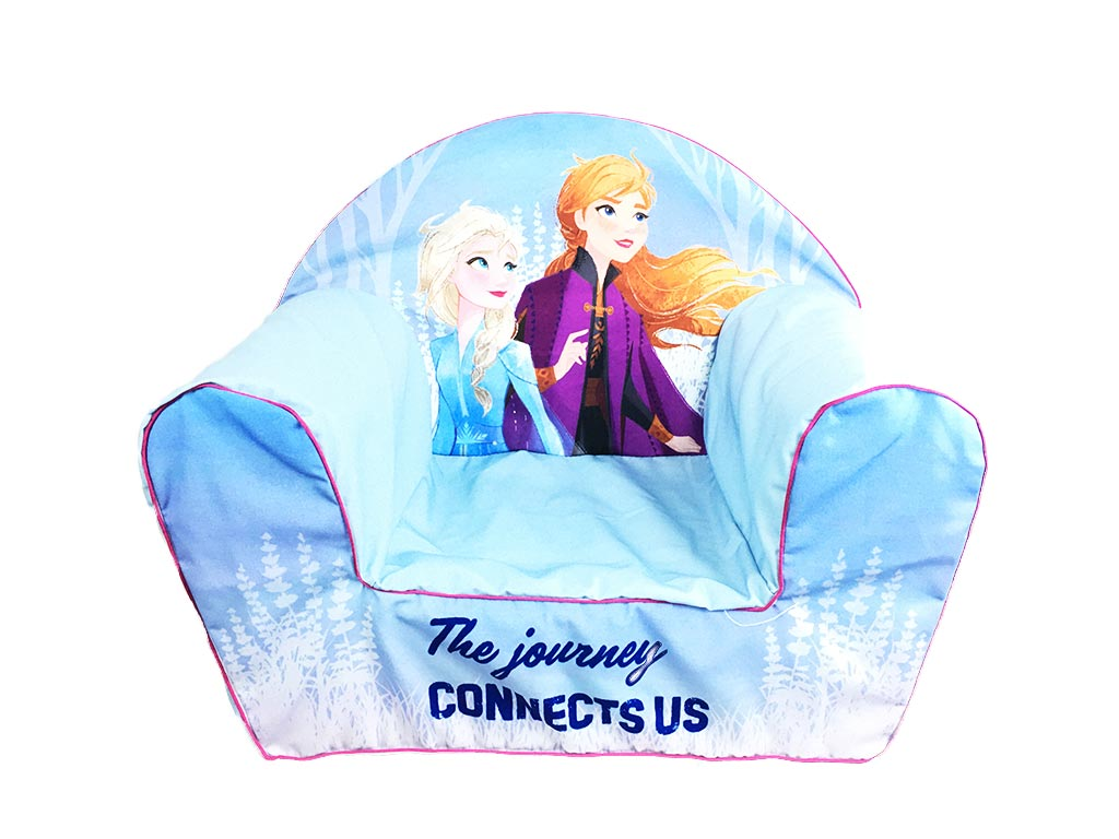 Παιδική Πολυθρόνα με θέμα Frozen2 σε μπλε χρώμα, διαστάσεις 42x52x32 εκατοστά - Aria Trade