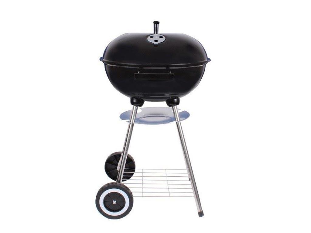 Ψησταριά Μπάρμπεκιου BBQ υπαίθρια με κάρβουνο και καπάκι, 48x43x73.5 cm, MUHLER A-K17F - Muhler