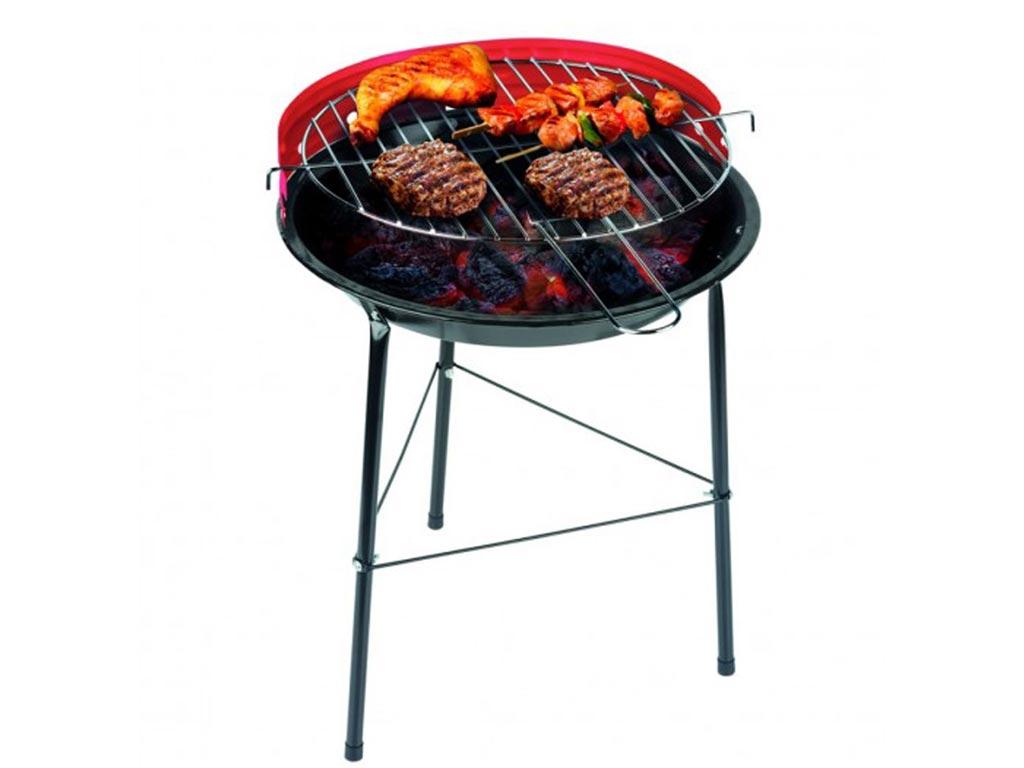 Φορητή Πτυσσόμενη Ψησταριά Κάρβουνου BBq από Μέταλλο, 33x43 cm Κόκκινο - BBQ Collection