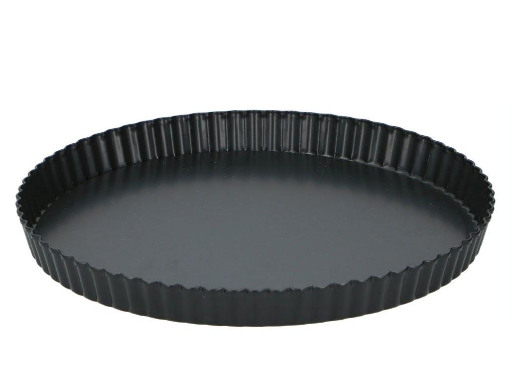 Alpina Αντικολλητική Φόρμα Ψησίματος για Quiche σε μαύρο χρώμα, 28x3.5 cm - Alpina Switzerland