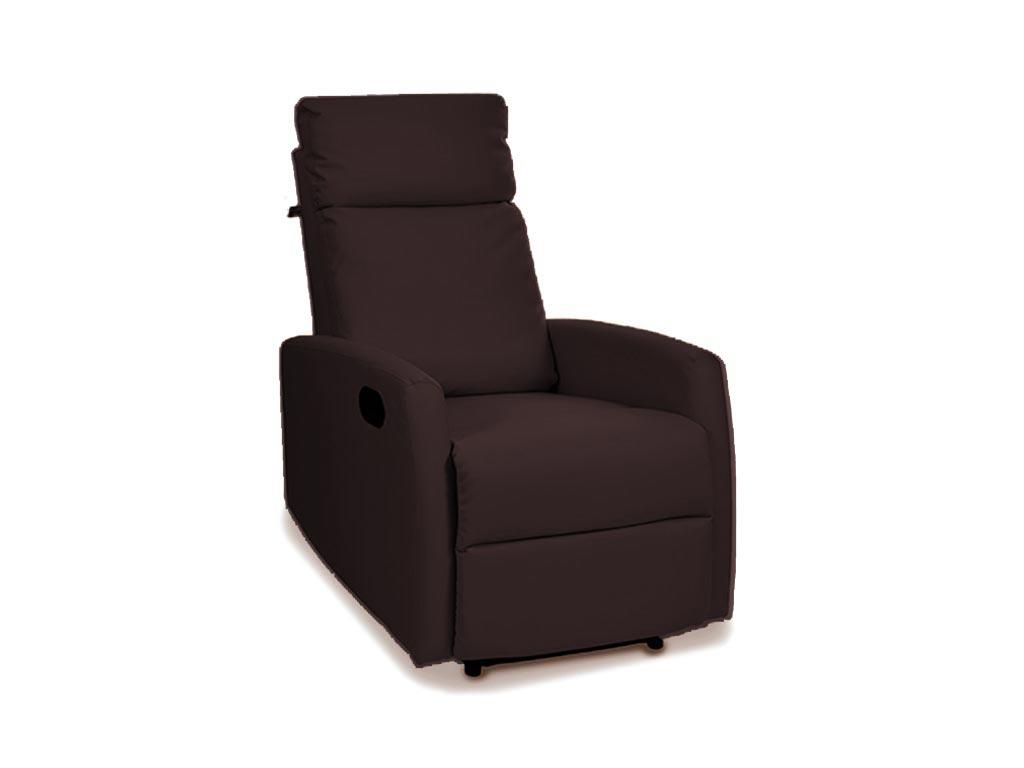 Αναπαυτική πολυθρόνα κρεβάτι Relax 3 θέσεων σε καφέ χρώμα, 94x64x1m - Aria Trade