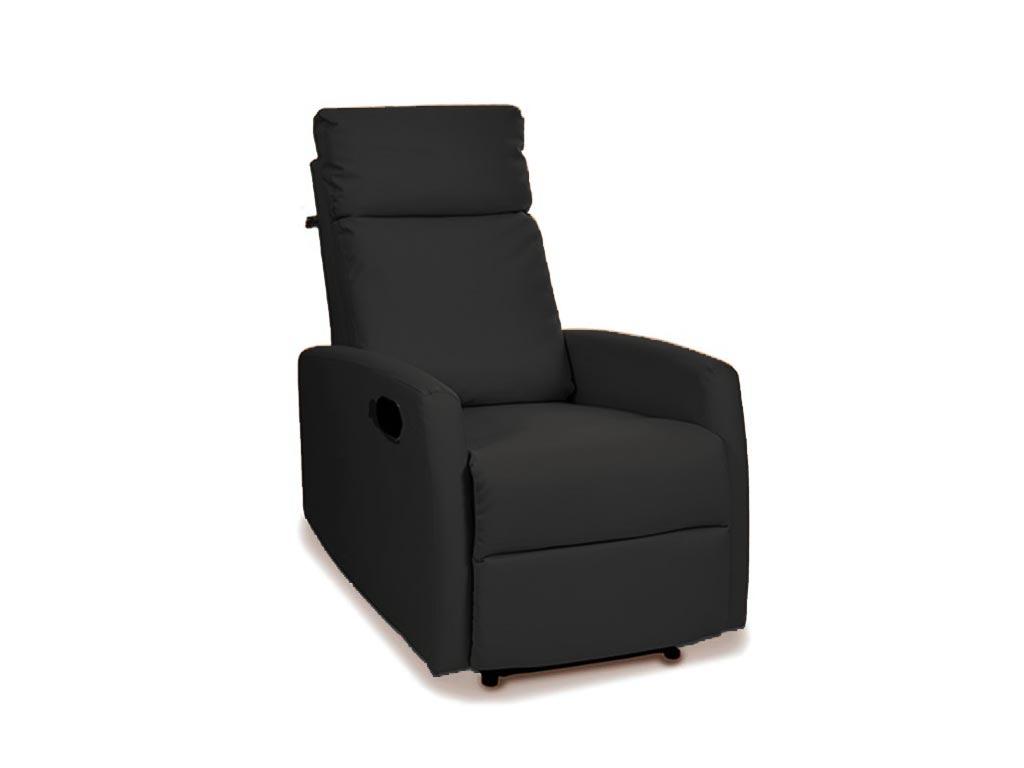 Αναπαυτική πολυθρόνα κρεβάτι Relax 3 θέσεων σε μαύρο χρώμα, 94x64x1m - Aria Trade