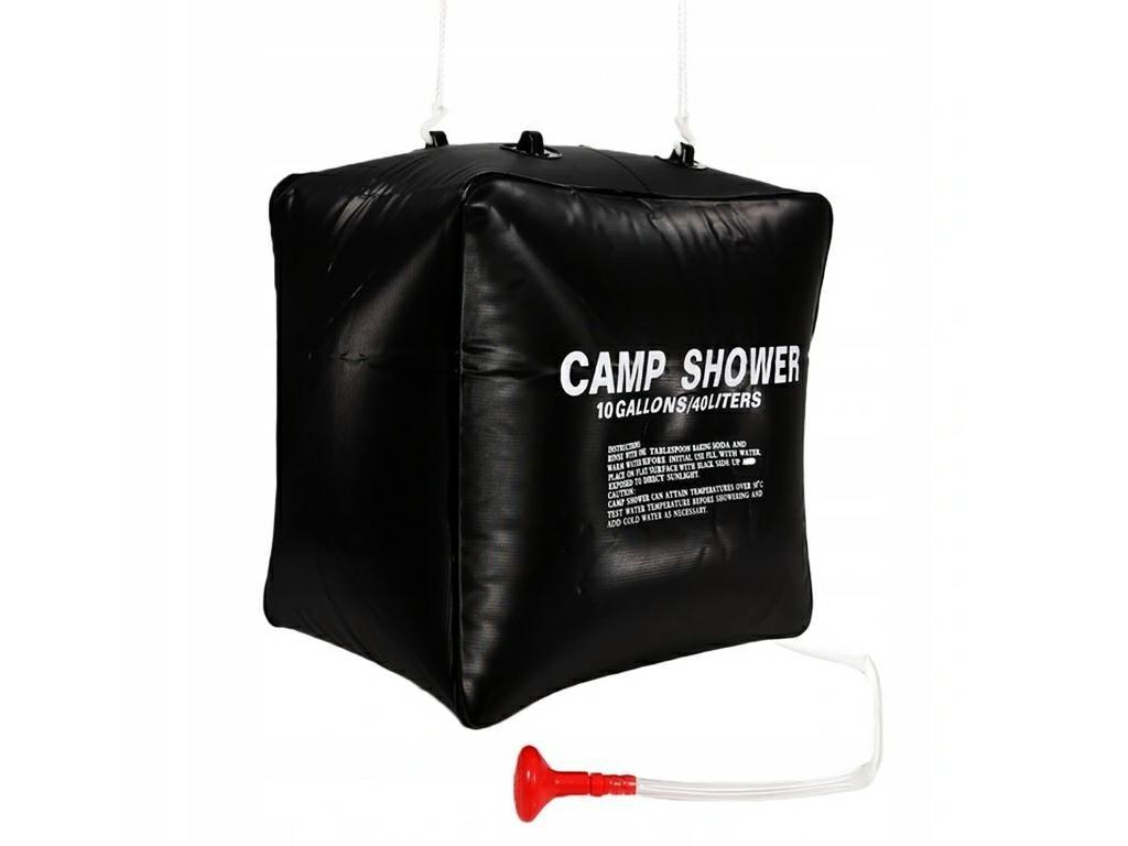 Ηλιακή Ντουζιέρα Camping 40 λίτρων με γάντζους στερέωσης, 40x40x28 cm - Aria Trade