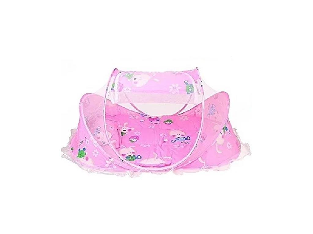 Πτυσσόμενη Σκηνή για μωρά με μουσική σε ροζ χρώμα - Aria Trade