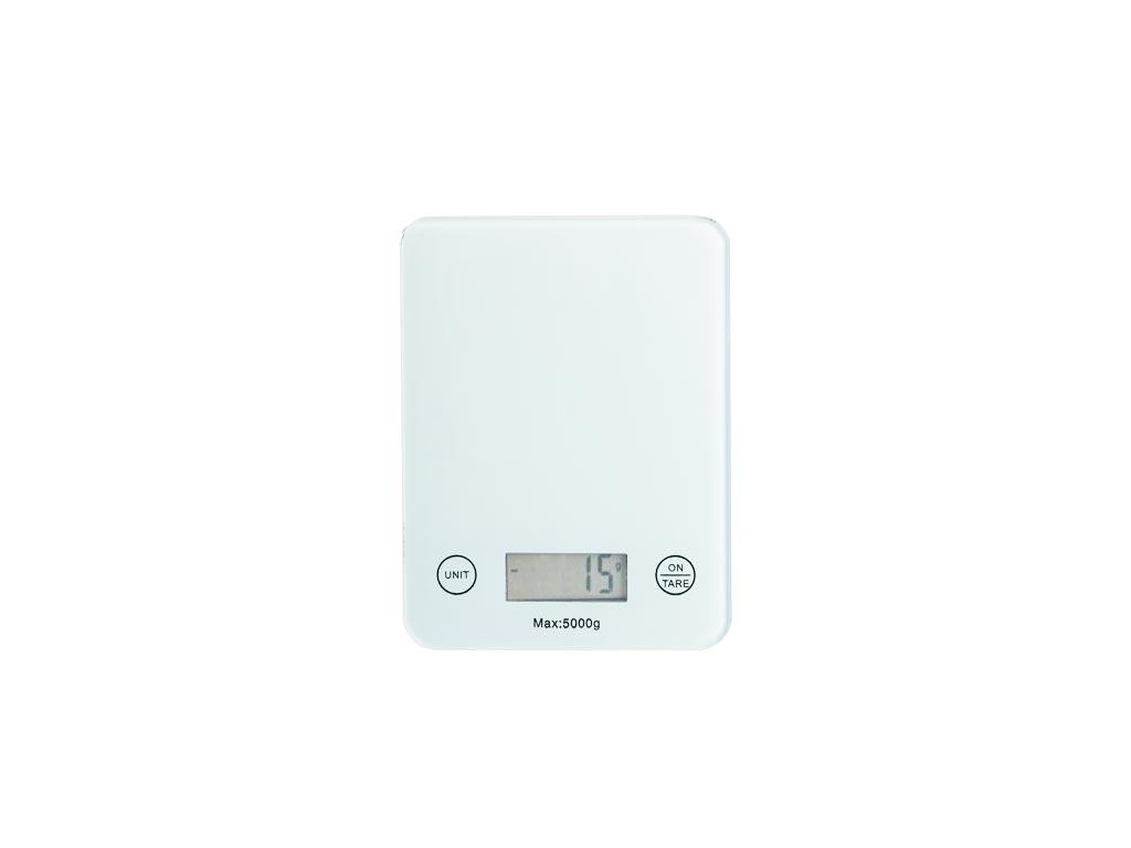 Ψηφιακή Ζυγαριά Κουζίνας Ακριβείας έως 5Kg σε Λευκό χρώμα, 2x14x18.5 cm - Aria Trade