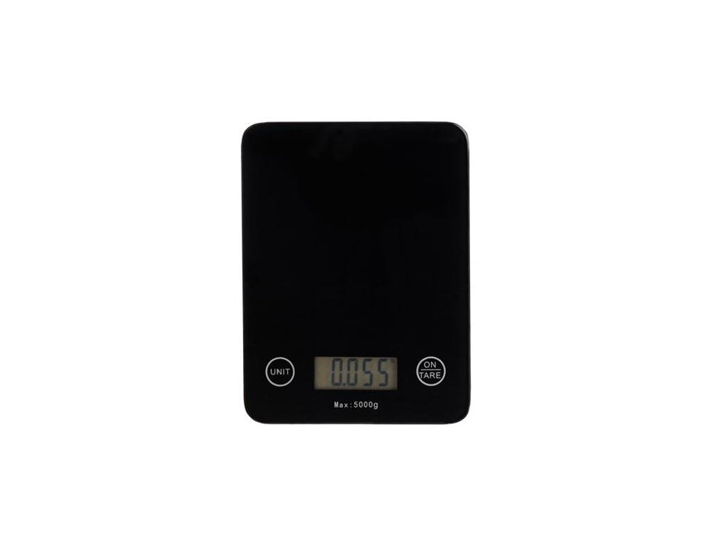 Ψηφιακή Ζυγαριά Κουζίνας Ακριβείας έως 5Kg σε Μαύρο χρώμα, 2x14x18.5 cm - Aria Trade