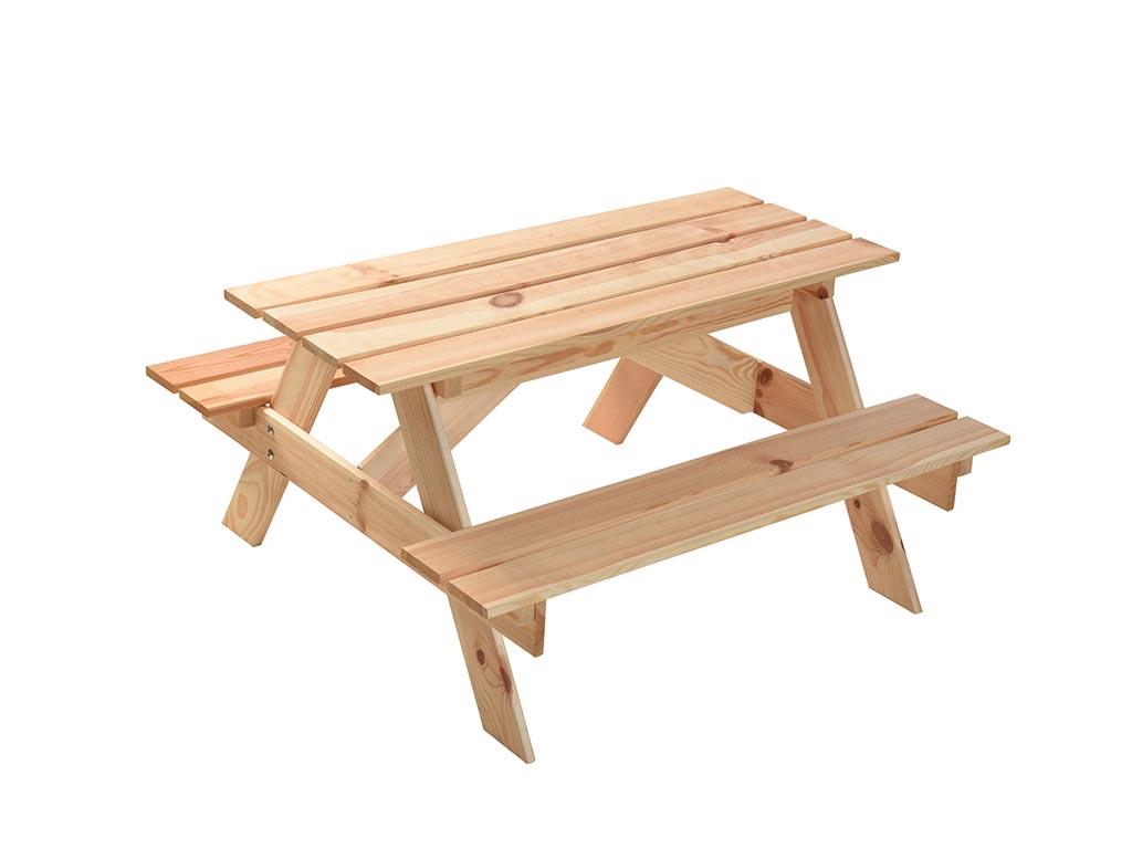 Μίνι Τραπέζι Πικνικ με ενσωματωμένο χώρο για άμμο, 90x89x50 cm - Aria Trade