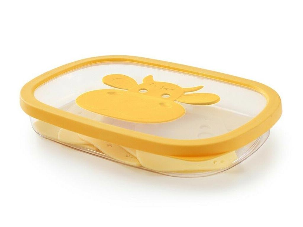 Δοχείο Φαγητού με καπάκι ιδανικό για φέτες τυριού, 28.5x20.5x4.5 cm - Aria Trade