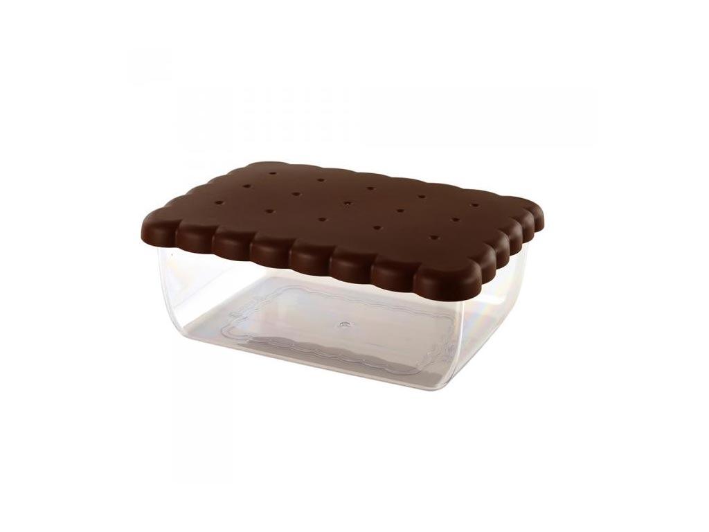 Δοχείο Φαγητού με καπάκι ιδανικό για μπισκότα, 24.5x18.5x9.5 cm - Aria Trade