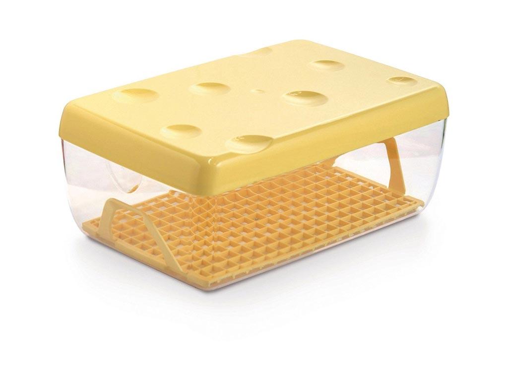 Δοχείο Φαγητού με καπάκι και δισκάκι ιδανικό για τυρί, 26x17x10.5 cm - Aria Trade