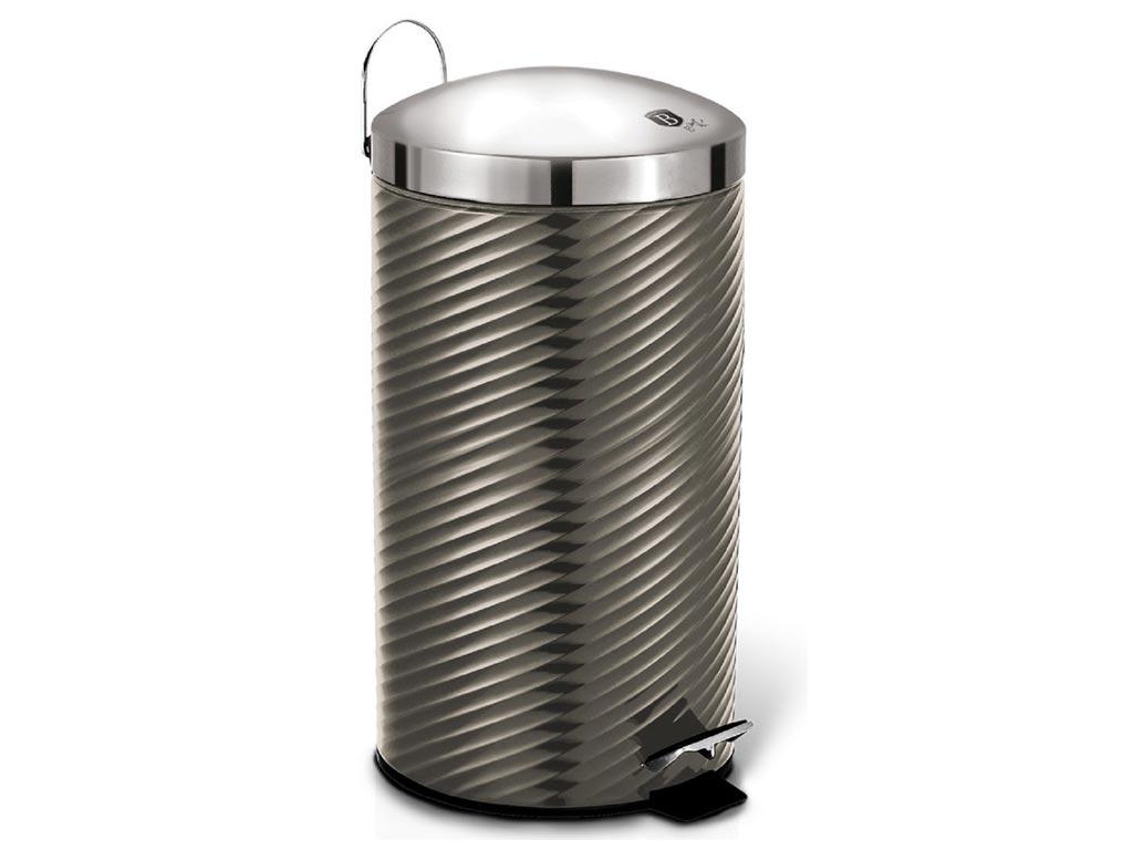 Berlinger Haus Κάδος απορριμάτων 20 λίτρων από Ανοξείδωτο ατσάλι, Metallic Line Carbone Edition, BH-6428 – Berlinger Haus
