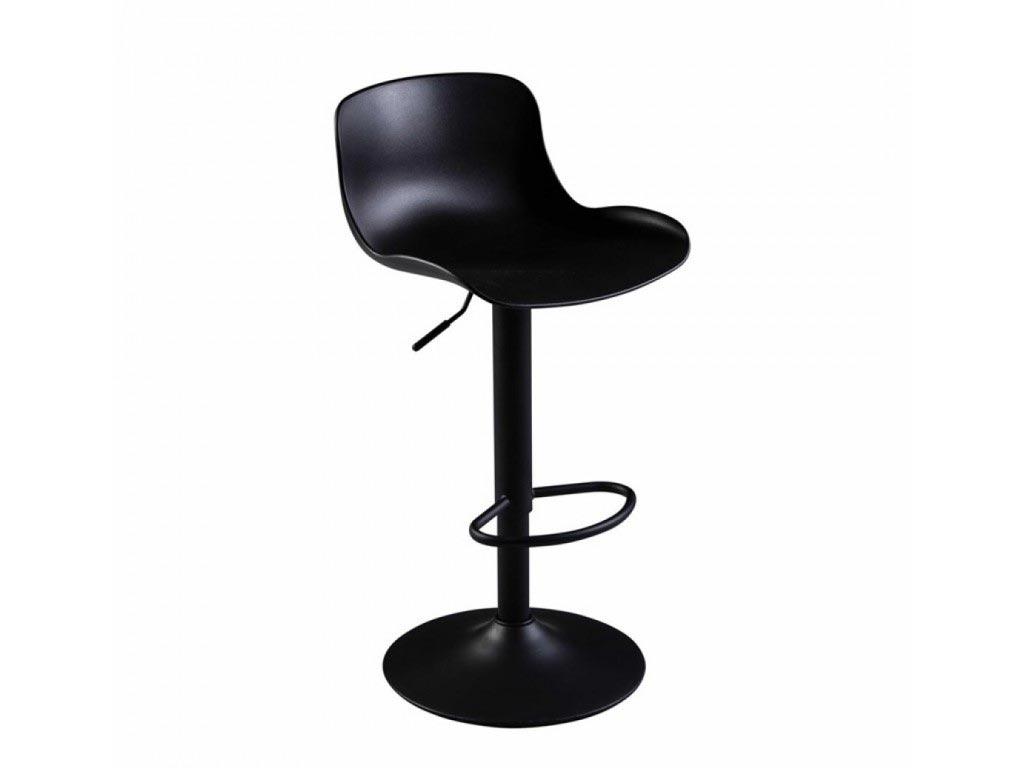 Σκαμπό Μπαρ με ρυθμιζόμενο ύψος σε μαύρο χρώμα, 45x44x102 cm - Aria Trade