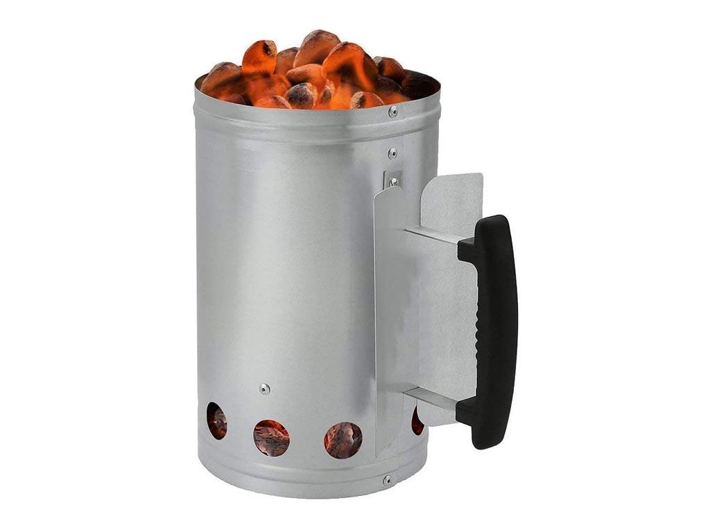 Δοχείο Εκκίνησης για κάρβουνα από Ανοξείδωτο ατσάλι, 26.5x27 cm, BBQ Starter - Aria Trade