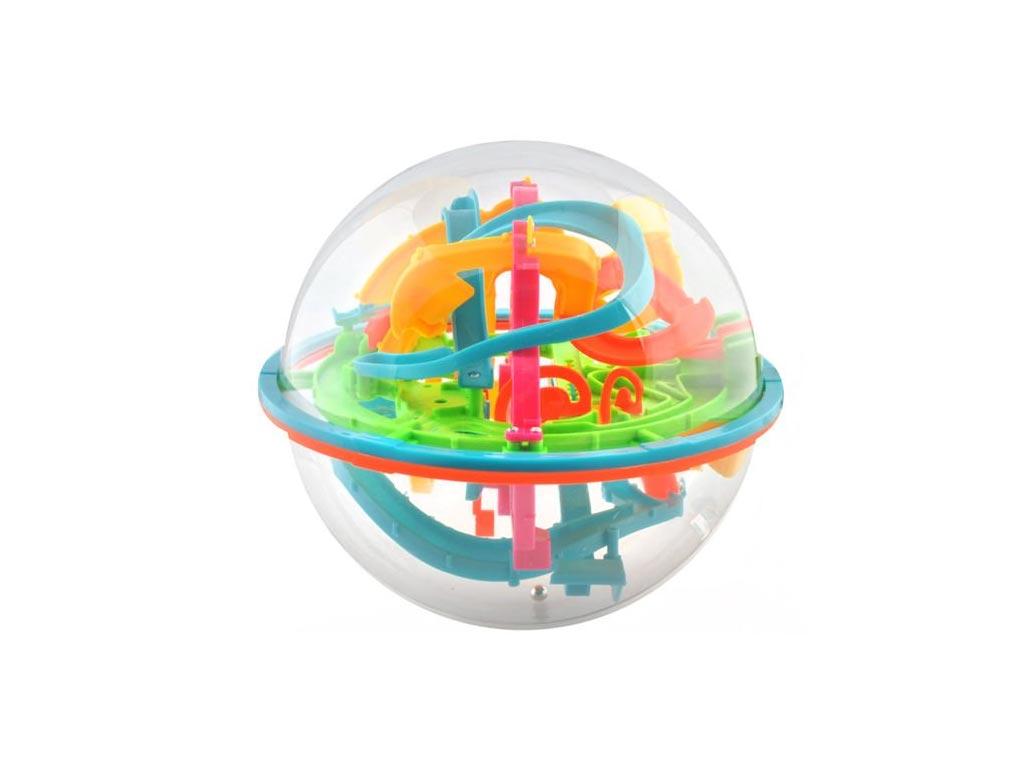 Παιχνίδι 3D μπάλα λαβύρινθος με μπαλίτσες με 138 εμπόδια, 18x18cm
