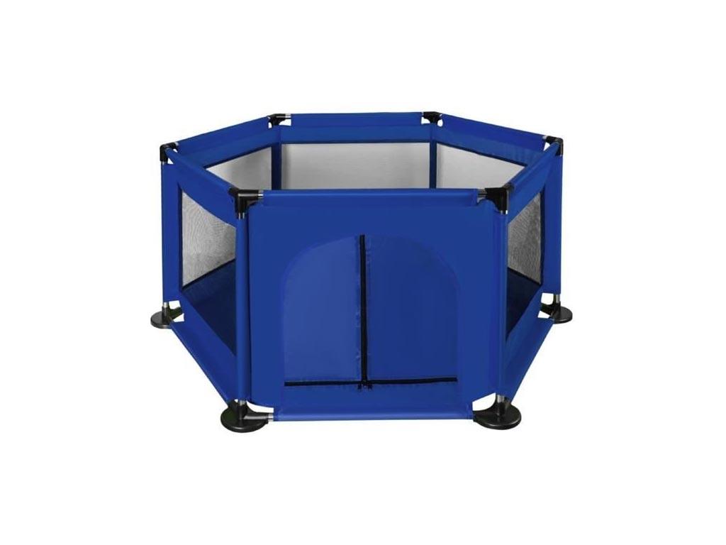 Παιδικό πάρκο σκηνή για παιχνίδι σε εξάγωνο σχήμα σε μπλε χρώμα, 125x110x65 cm - Aria Trade
