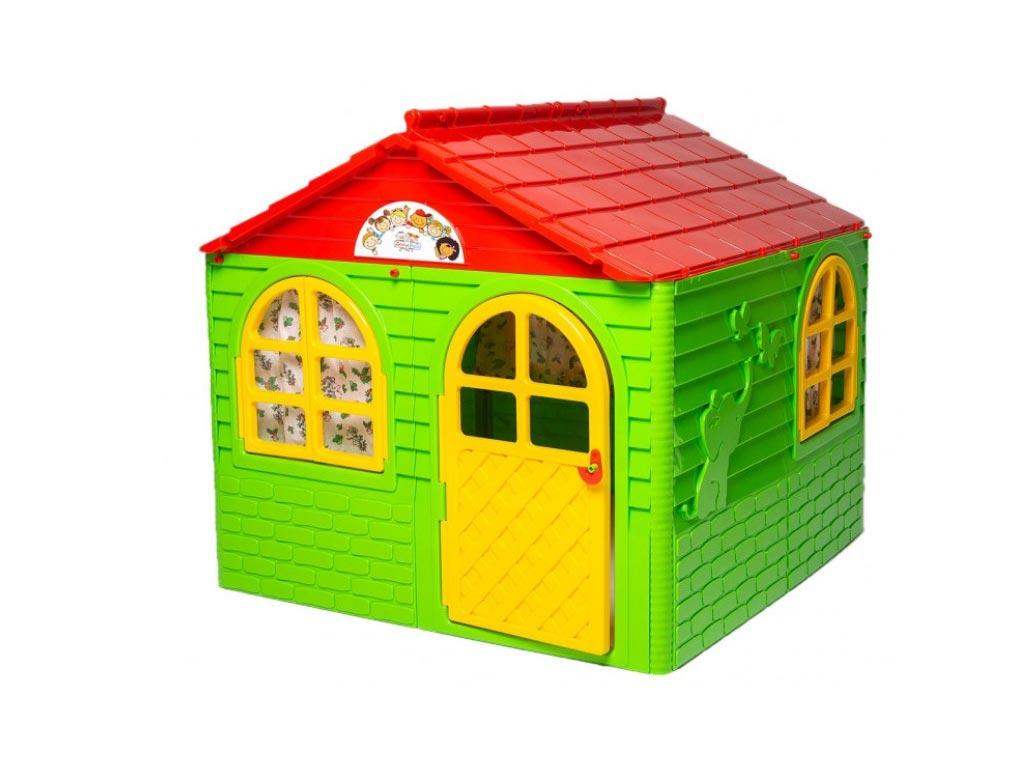 Παιδικό σπιτάκι εξωτερικού χώρου για τον Κήπο και την Βεράντα σε πράσινο χρώμα, 129х129х120 cm - Active baby