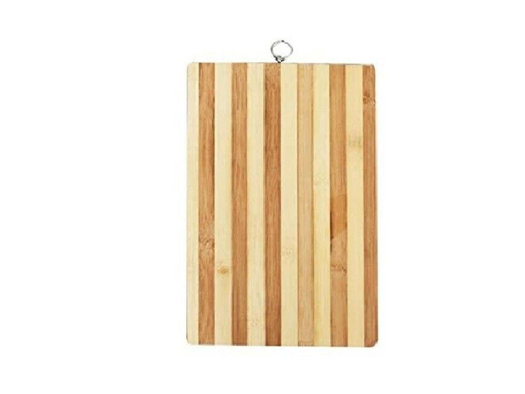 Bamboo Ξύλινη Επιφάνεια Κοπής 30x40 cm με Δαχτυλίδι - Aria Trade