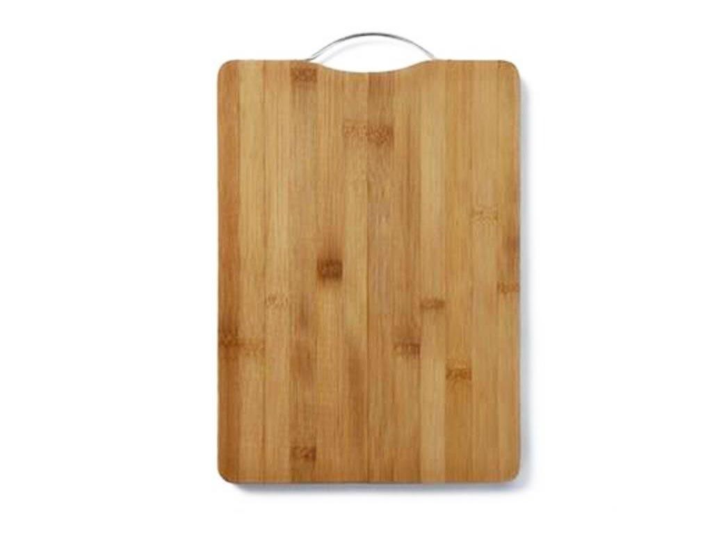 Bamboo Ξύλινη Επιφάνεια Κοπής 26x36 cm με Λαβή - Aria Trade