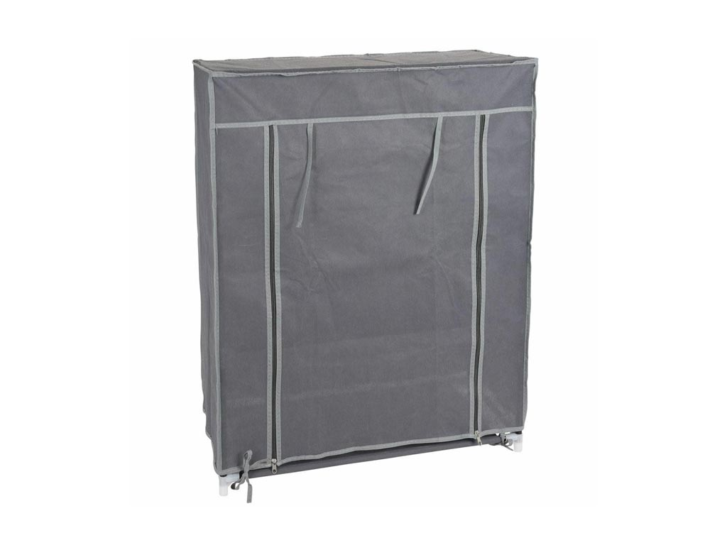 Παπουτσοθήκη με 3 ράφια και φερμουάρ σε γκρι χρώμα, 60x30x80 cm – Aria Trade