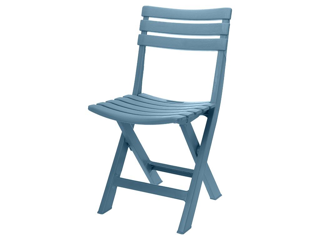 Πτυσσόμενη Καρέκλα εσωτερικού και εξωτερικού χώρου σε μπλε χρώμα, 80x45.5x41.5 cm - Aria Trade