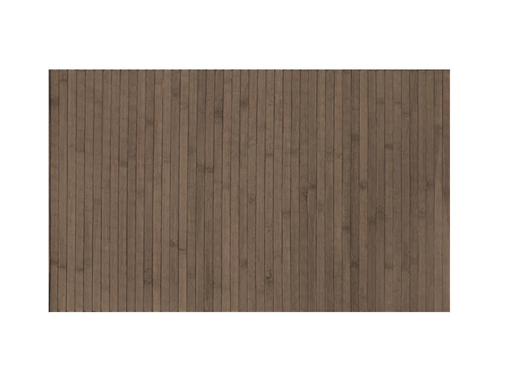 Αντιολισθητικό Πατάκι Μπάνιου από Bamboo σε γκρι-καφέ χρώμα, 50×80 cm
