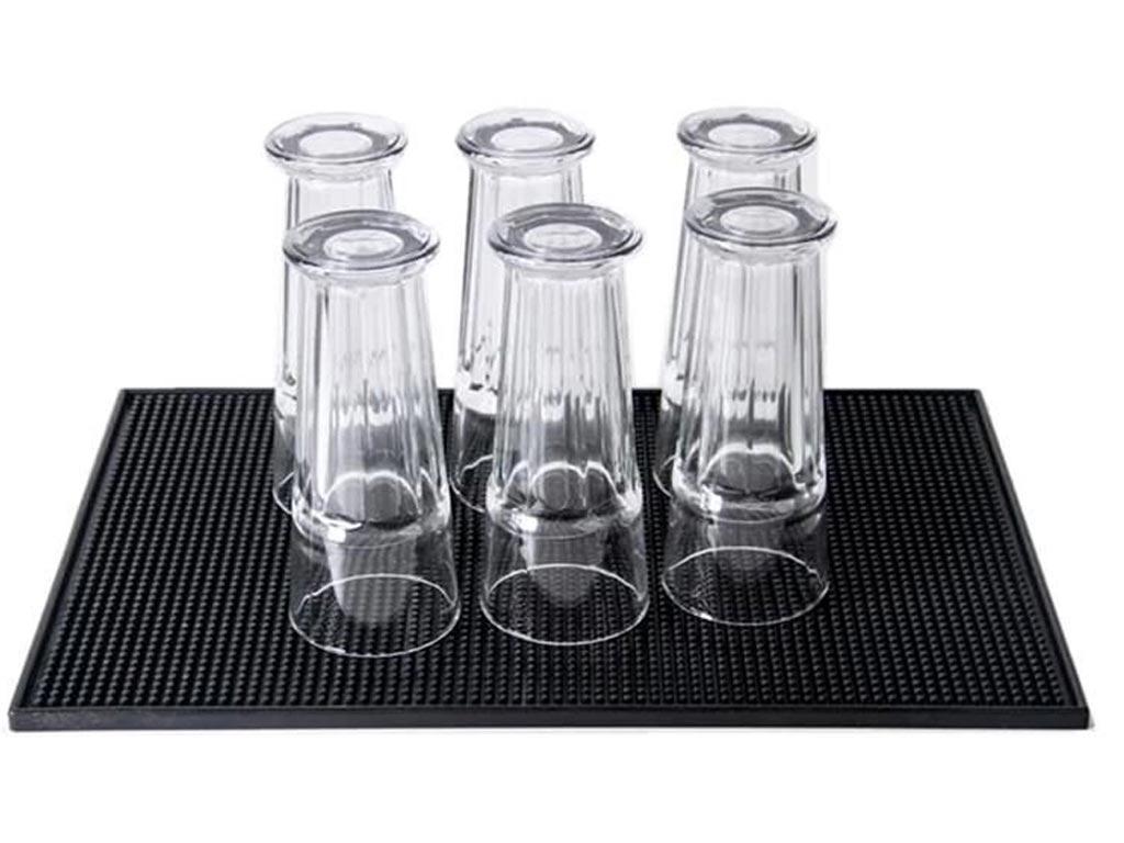 Αντιολισθητικό Πανί Bar Σιλικόνης Γενικής Χρήσης σε μαύρο χρώμα, 45x30 cm - Aria Trade