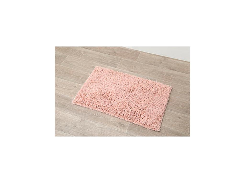 Αντιολισθητικό Πατάκι Μπάνιου με Μικροϊνες σε ροζ χρώμα, 50x80 cm, Clear pink - Aria Trade