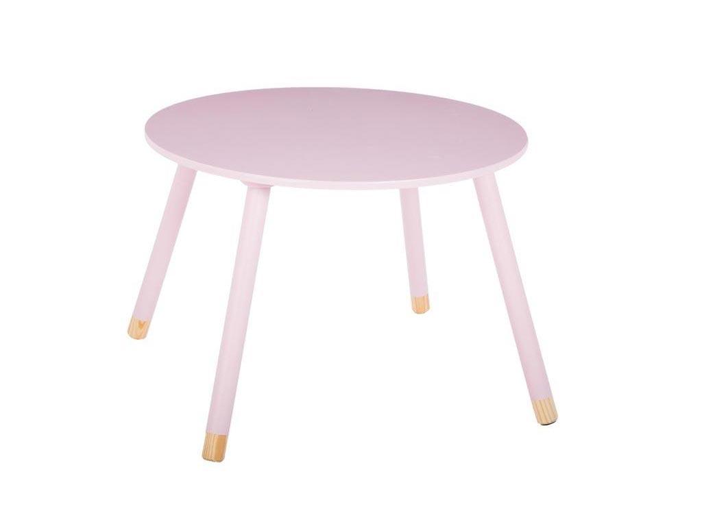 Ξύλινο Παιδικό Τραπεζάκι σε ροζ χρώμα, Pink Sweet Table, 60x43 cm - Aria Trade