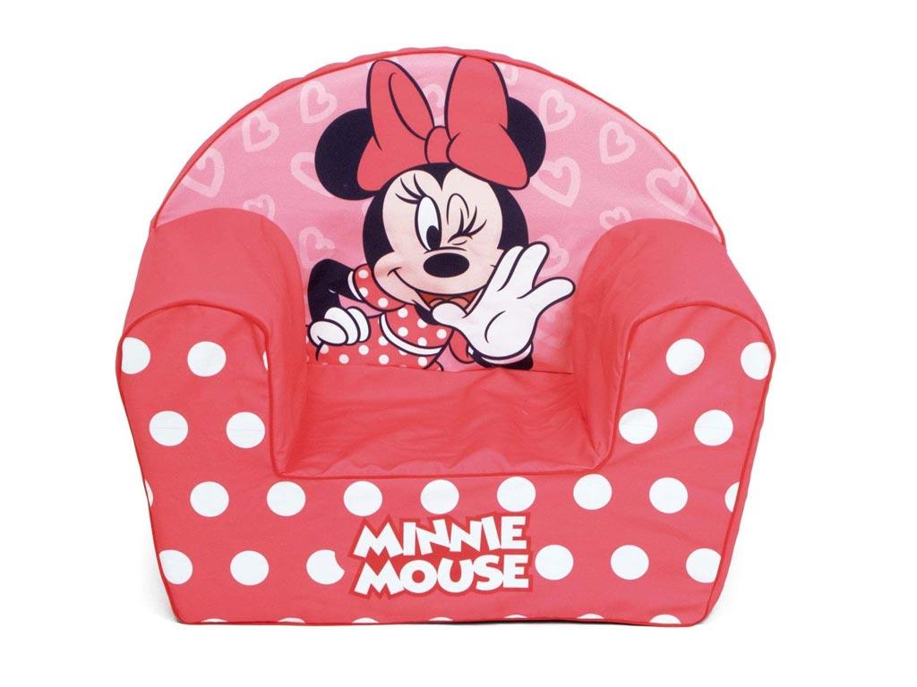 Παιδική Πολυθρόνα με θέμα Minnie σε Κόκκινο χρώμα, διαστάσεις 42x52x32 εκατοστά - Aria Trade