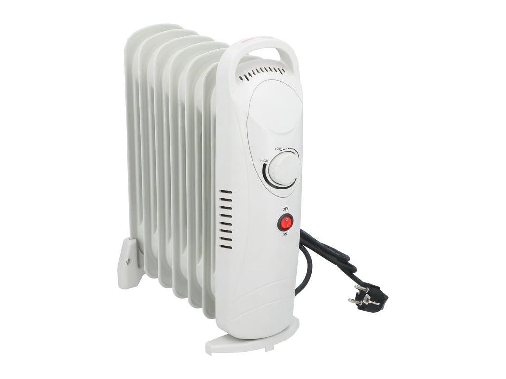 Καλοριφέρ λαδιού 850W με ρυθμιζόμενο θερμοστάτη σε λευκό χρώμα, 13.5x30x39 cm, Alpina - Alpina Switzerland