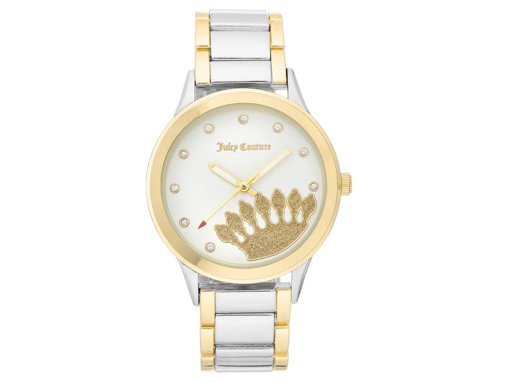 Juicy Couture Γυναικείο Ρολόι Αναλογικό, διάμετρος 38mm με μπρασελέ και κούμπωμα ασφαλείας, JC/1126WTTT