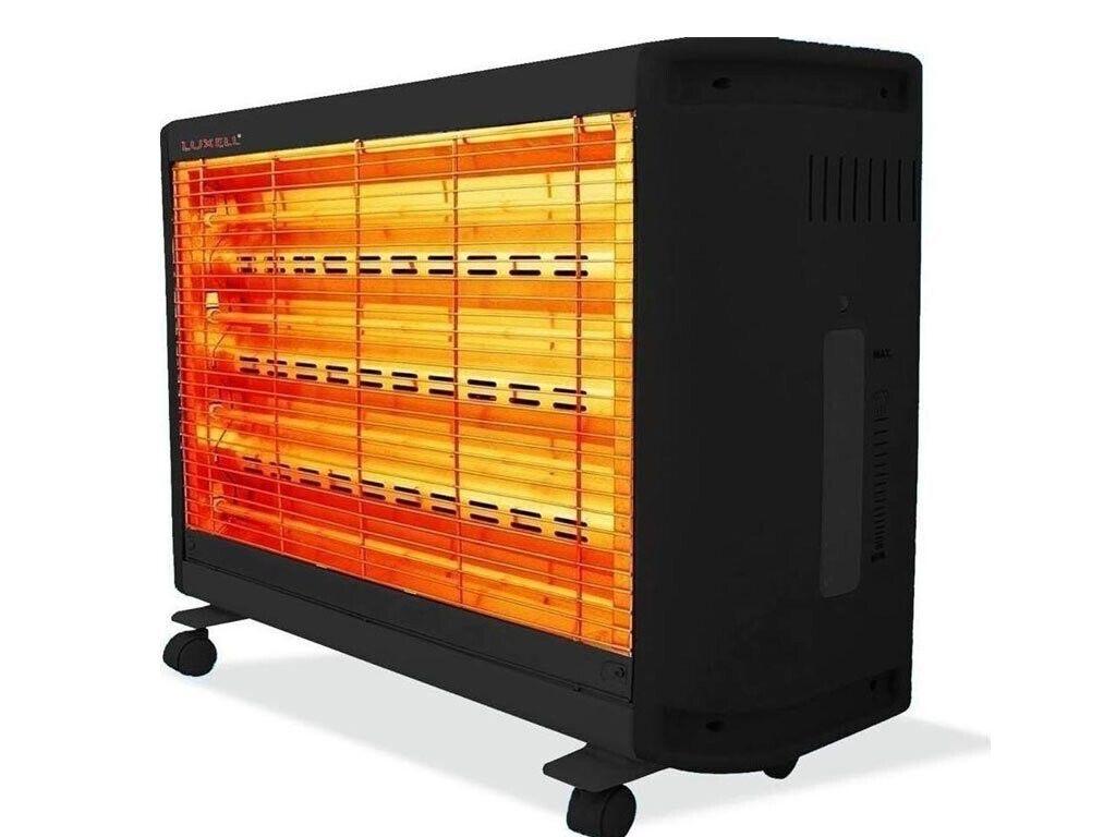 Ηλεκτρική Θερμάστρα Σόμπα με 4 λυχνίες χαλαζία 2200W, 25.5×71×57.5 cm - Luxell
