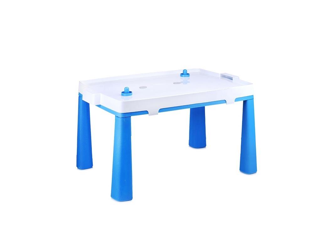 Παιδικό Τραπέζι Επιδαπέδιο Χόκει Αέρος 2 σε 1 σε μπλε χρώμα, 81.5x56x48 cm, Table hockey - Aria Trade