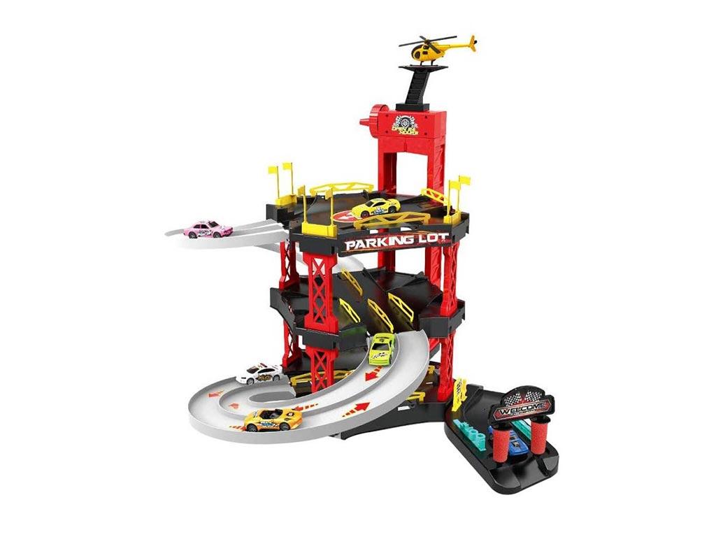 Παιδικό Παιχνίδι Γκαράζ με 3 ορόφους και αυτοκινητάκια, 68x38x34 cm, Parking garage
