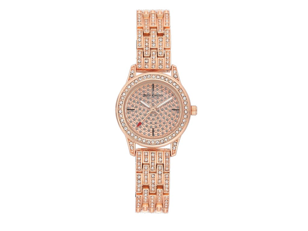 Juicy Couture Γυναικείο Ρολόι Αναλογικό, διάμετρος 25mm με μπρασελέ και κούμπωμα ασφαλείας σε Ροζ Gold, JC/1144PVRG