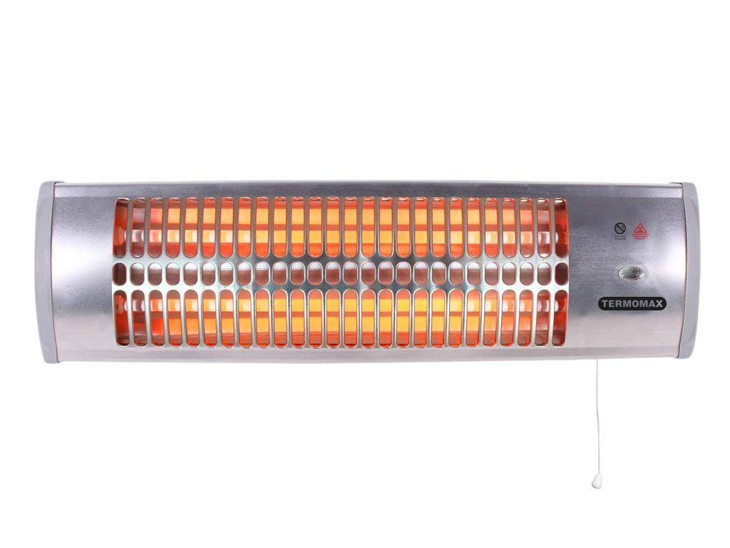 Επιτοίχια Ηλεκτρική Θερμάστρα Σόμπα Χαλαζία 1200W, Termomax TR-12Q - Termomax