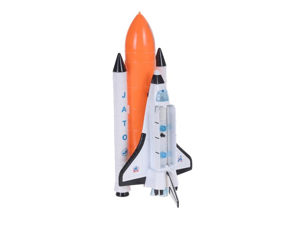 Παιδικό παιχνίδι διαστημόπλοιο με πραγματικούς ήχους αεροσκάφους ειδικούς φωτισμούς και πύργο ελέγχου, 6x9x20 cm