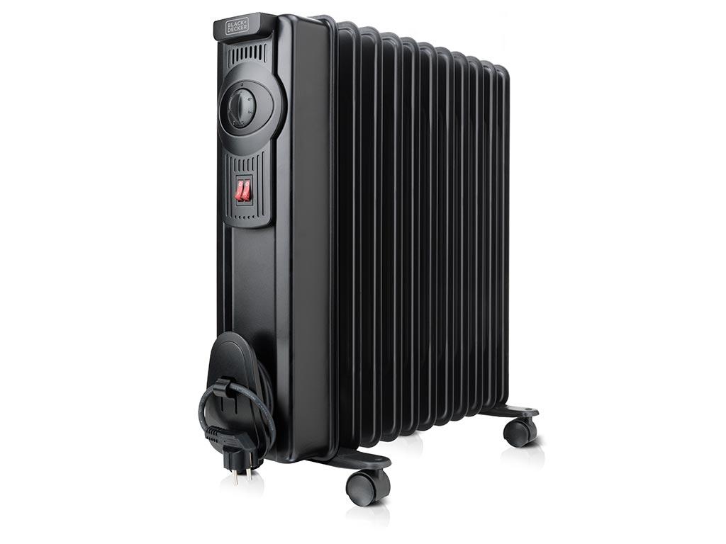 Black & Decker Ηλεκτρικό Θερμαντικό Σώμα Καλοριφέρ Λαδιού 2000W, Oil heater BXRA2000E - Black & Decker
