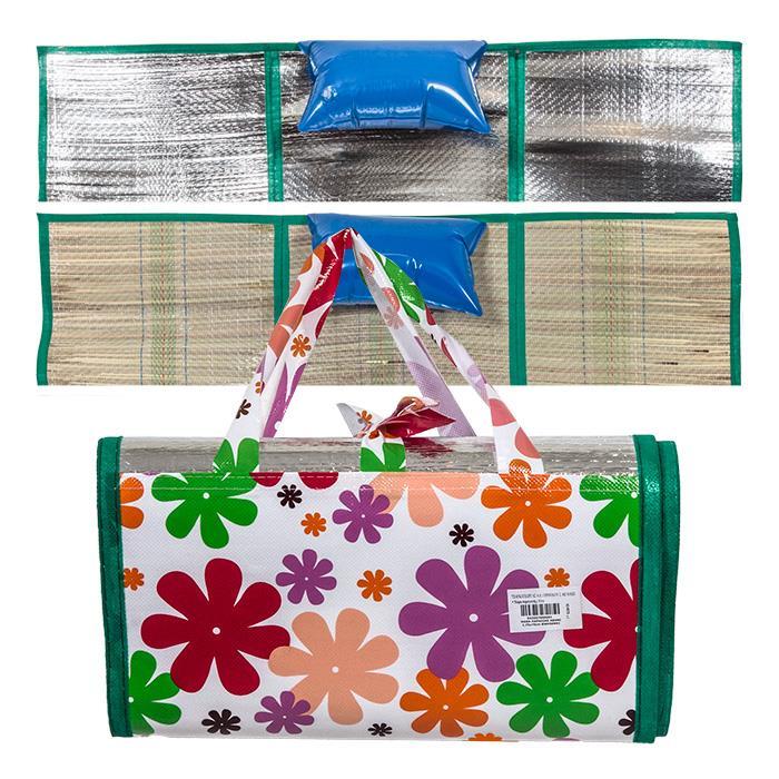 Εικόνα Ψάθα Παραλίας 170x90cm Συσκευασία Τσαντάκι με μόνωση και μαξιλάρι, 42-575 - Cb