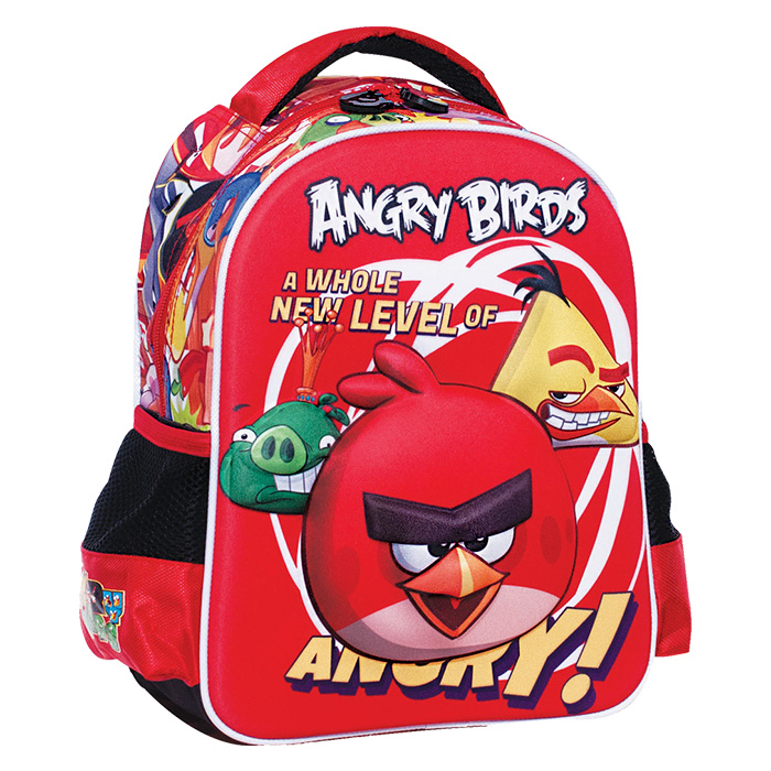 Σχολική Τσάντα Νηπίου 3D Σακίδιο Πλάτης με θέμα Angry Birds GIM, 50-1947 - Cb σχολικά είδη   σχολικές τσάντες