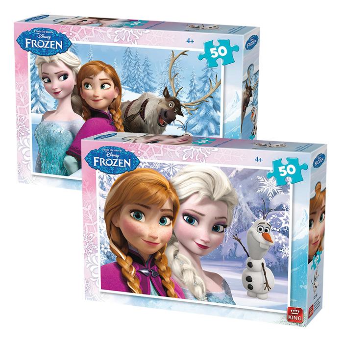 Disney Frozen Παιδικό Παζλ 50 τεμαχίων με απεικόνιση τις πριγκίππισες Έλσα και Ά παιχνίδια   παζλ και κατασκευές