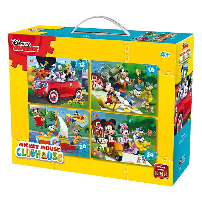 Σετ παιδικά παζλ της Disney σε βαλιτσάκι με 4 διαφορετικά θέματα και απεικόνιση  παιχνίδια   παζλ και κατασκευές